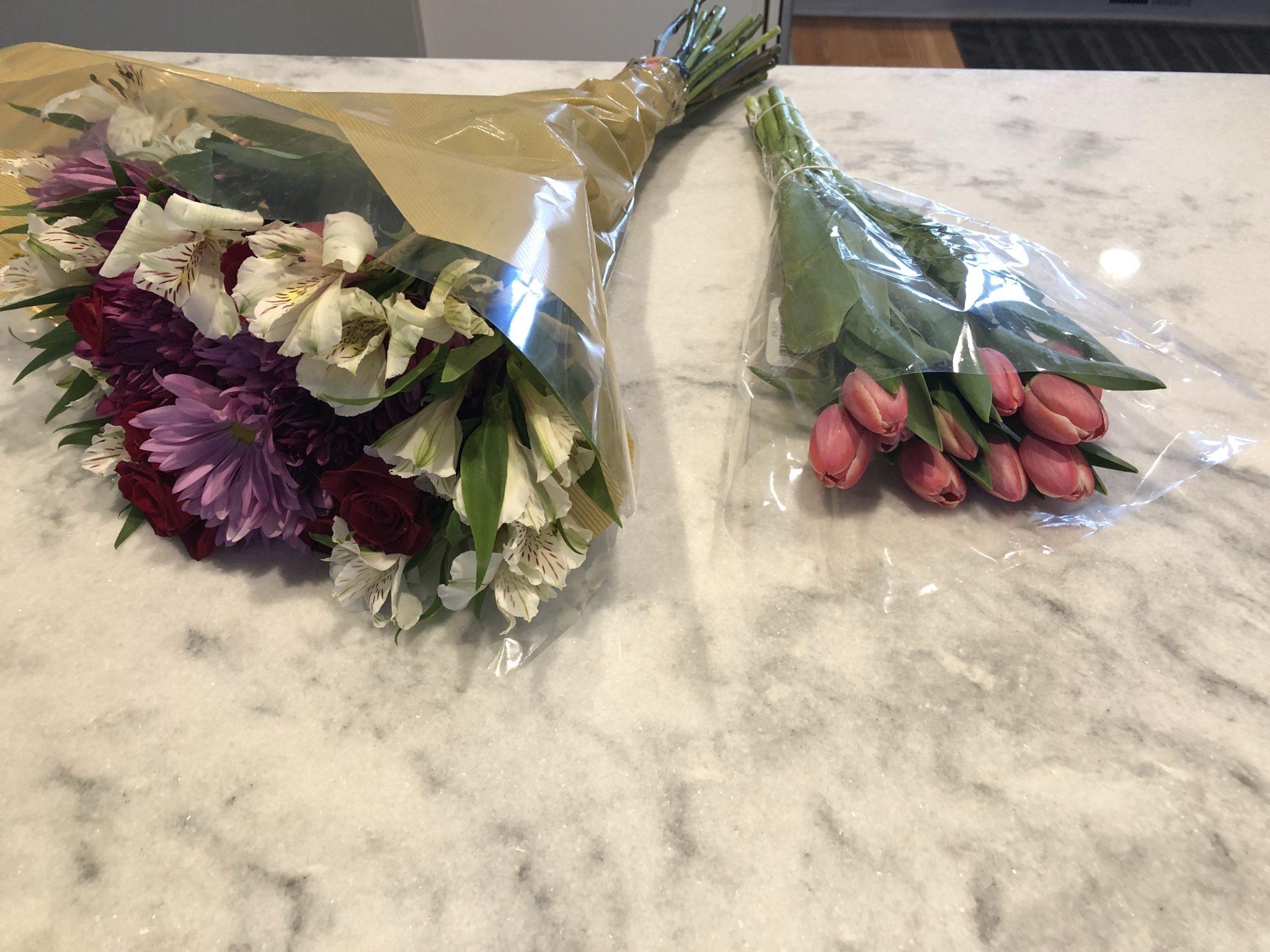 DIY Flower Bundle - making your own arrangement