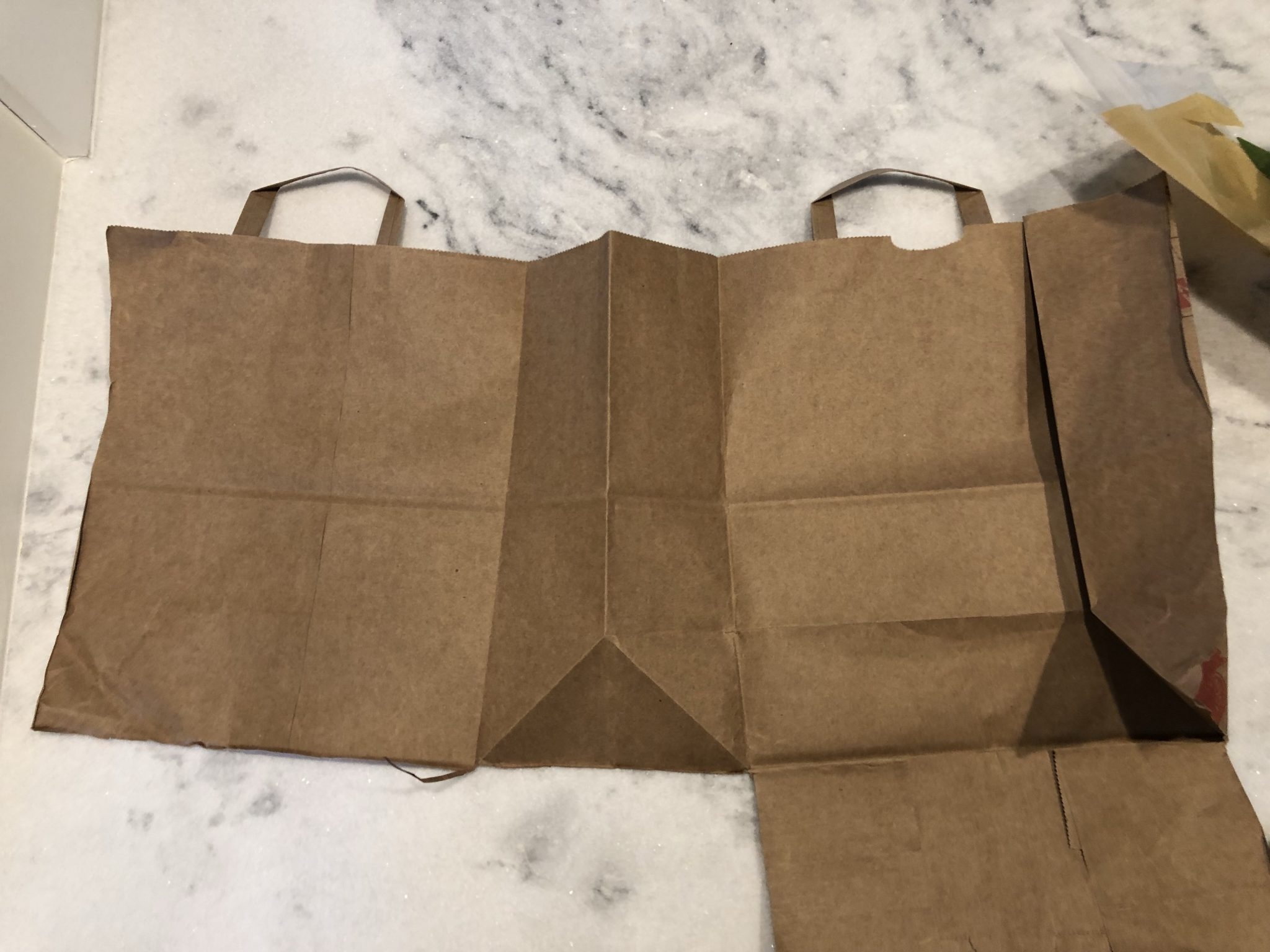 DIY craft paper from a grocery bag