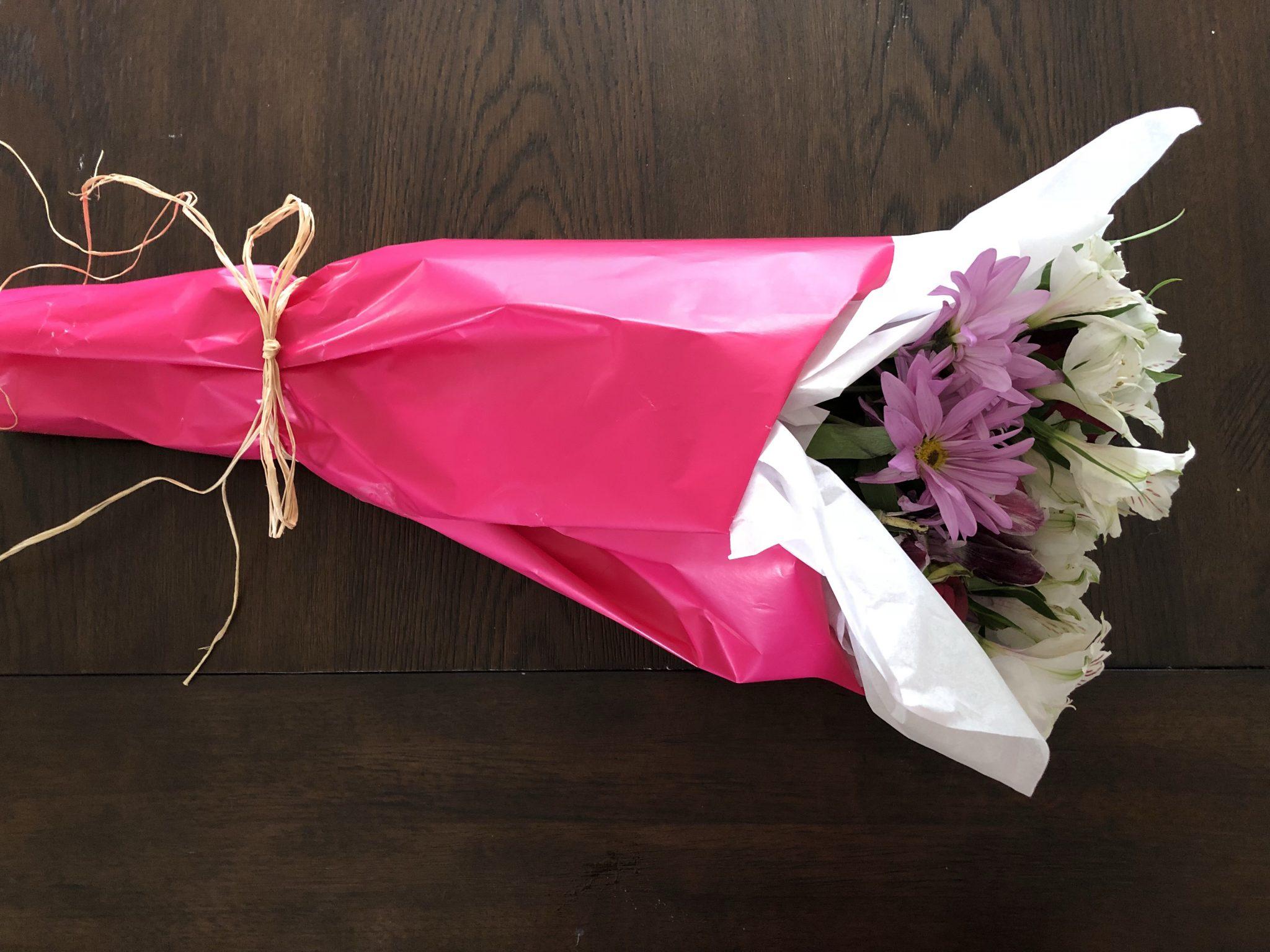 Pink DIY flower bundle