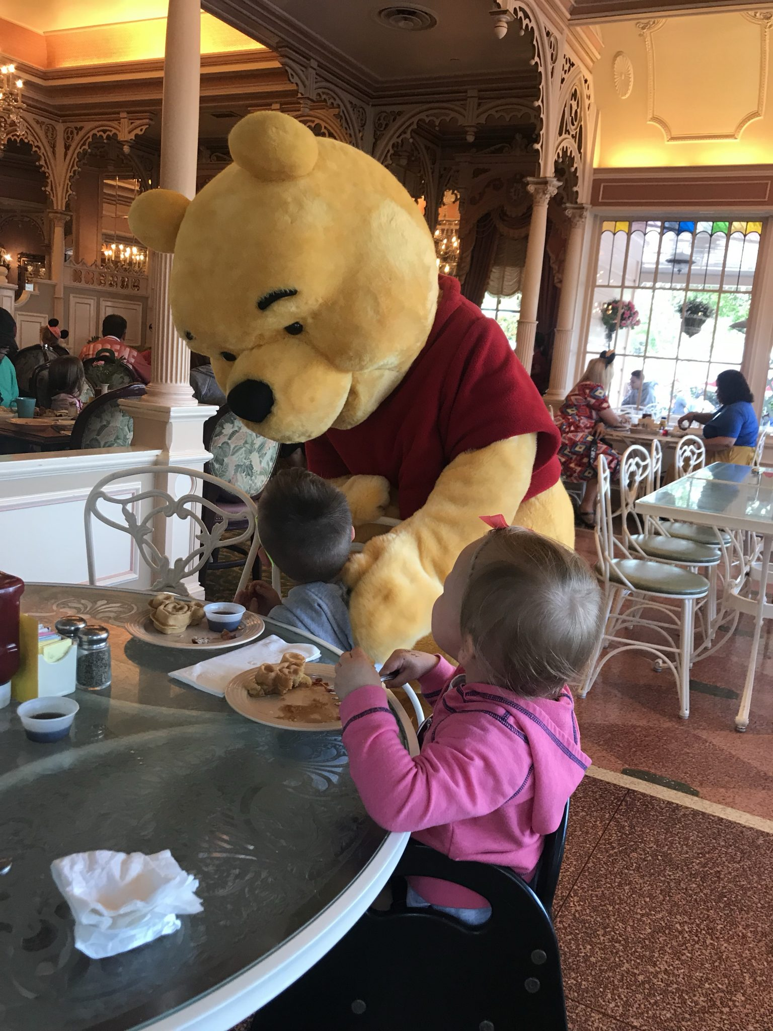 Character breakfast at Disney - our first trip to disneyland