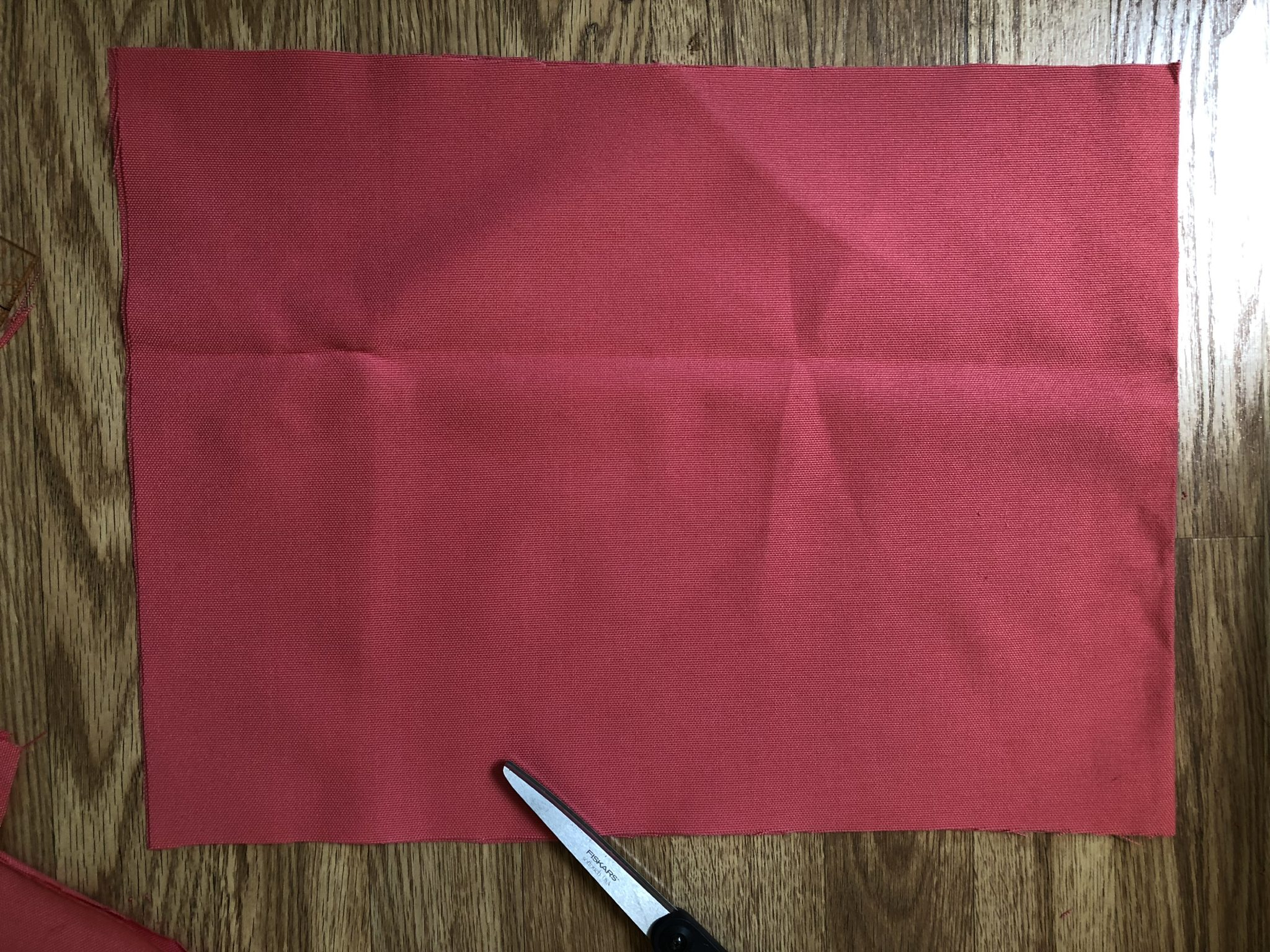 Cut fabric for easy bow pillow