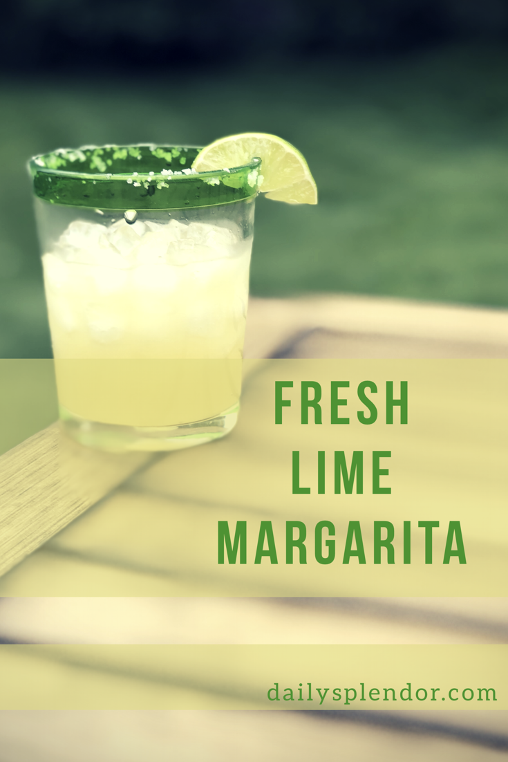 recipe for fresh lime margarita