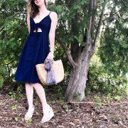 sweet navy day dress #daydress #everydayfashion #affordablefashion #summerstyle