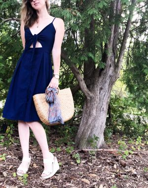 sweet navy day dress #daydress #everydayfashion #affordablefashion #summerstyle