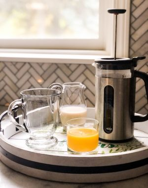 French press coffee - 4 inexpensive items to make your home feel luxurious #coffee #frenchpress #homeitems