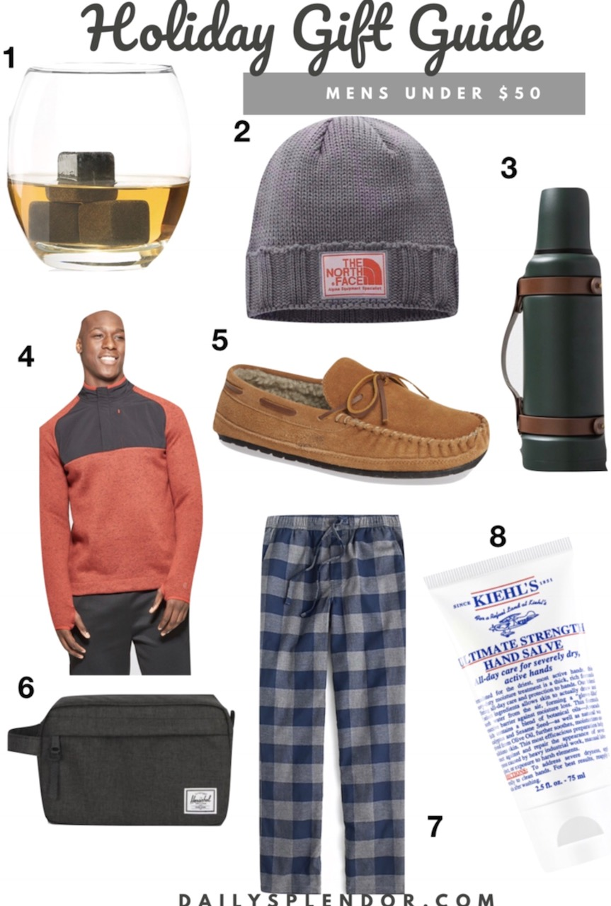 2018 Holiday Gift Guide for Men Under $50 | Daily Splendor Life and Style Blog | #giftguide #holidaygiftguide #2018giftguide #mensgiftguide #mensgiftideas #yeti #kiehls #jcrew #northface