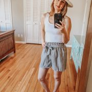 Spring Amazon Look | Daily Splendor Life and Style Blog || summer hat, shorts, tanks, sandals, amazon prime, #springstyle #springfashion #summeroutfit #primefind #everydaystyle #momstyle