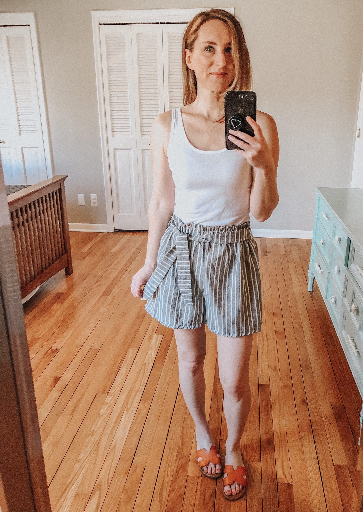 Spring Amazon Haul | Daily Splendor Life and Style Blog || shorts, tanks, sandals, amazon prime, #springstyle #springfashion #summeroutfit #primefind #everydaystyle #momstyle