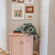 Hallway makeover and Creating a New Space | Daily Splendor Life and Style | spring update, hallway refresh, painting, #DIY #homeremodel #homedecor #renovations #afterpicture #pinkcabinet