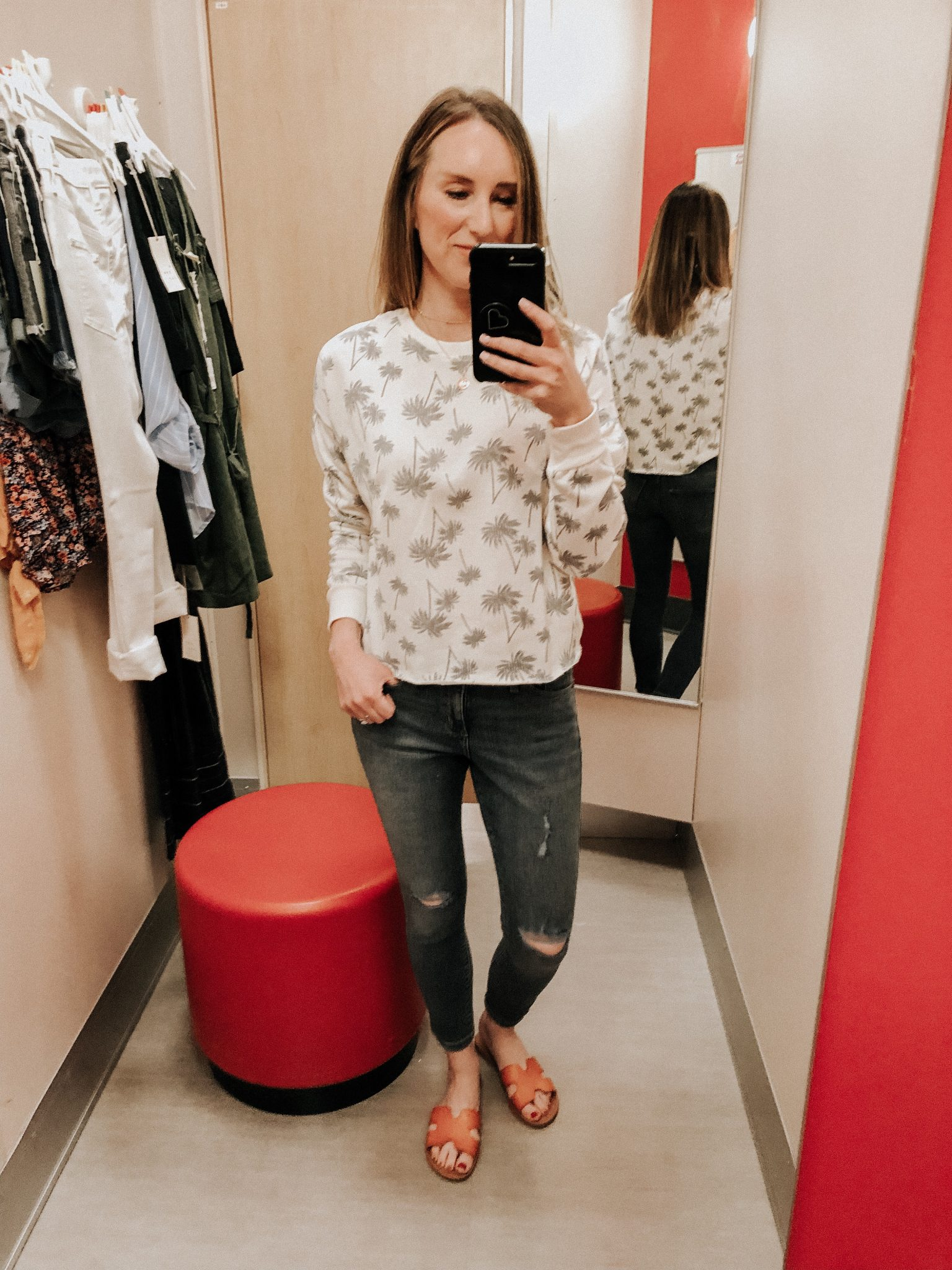 May Target Try On | Daily Splendor Life and Style Blog || spring outfit, lightweight sweatshirt, crop jeans, target clothes, #springoutfit #springstyle #targettryon