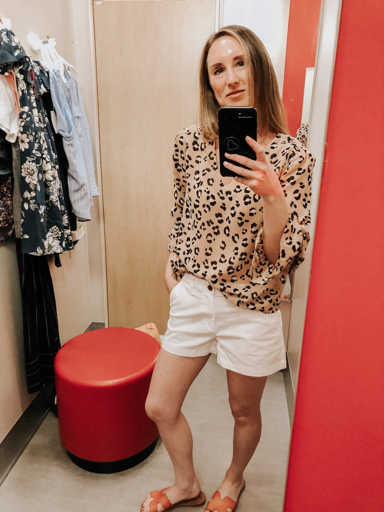 May Target Try On | Daily Splendor Life and Style Blog || spring outfit, leopard print top, white shorts, target clothes, #springoutfit #springstyle #targettryon