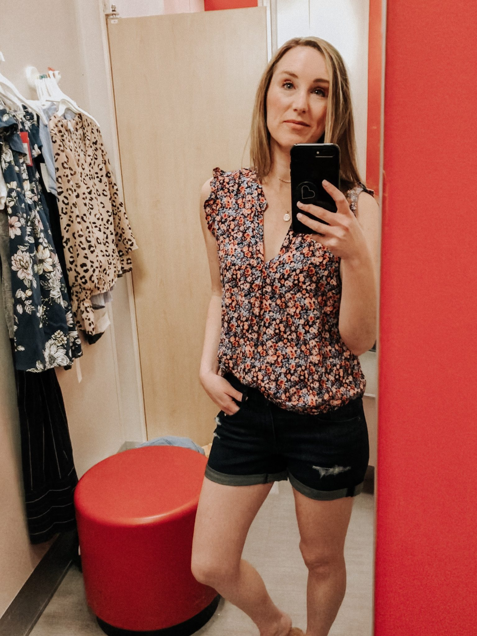 May Target Try On | Daily Splendor Life and Style Blog || spring outfit, floral top, denim shorts, target clothes, #springoutfit #springstyle #targettryon