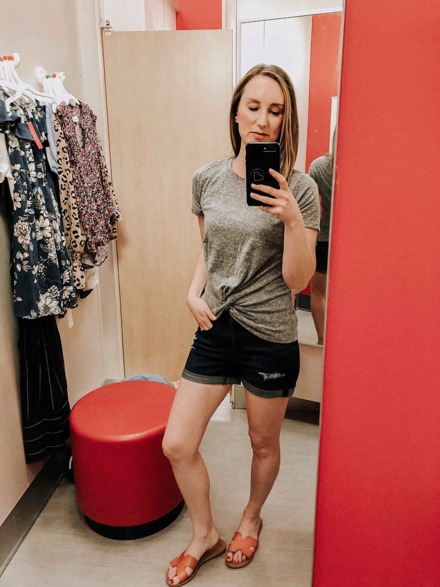 May Target Try On | Daily Splendor Life and Style Blog || spring outfit, twist front tshirt, denim shorts, target clothes, #springoutfit #springstyle #targettryon