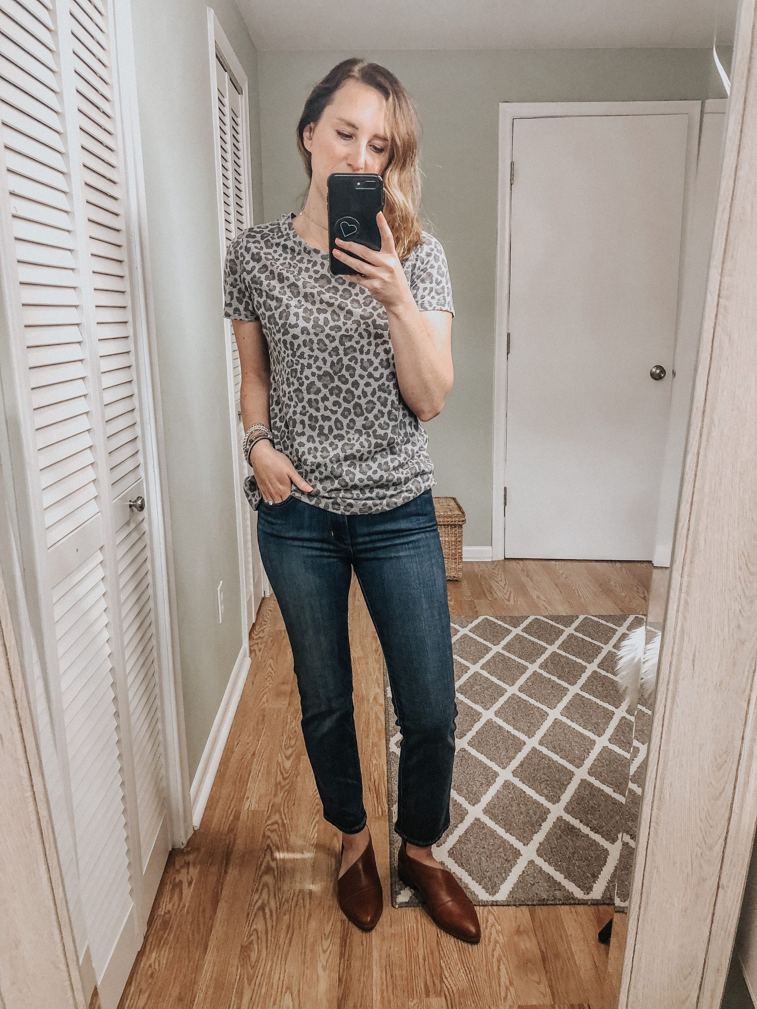 Fall Target Try On | Leopard tee and crop levis with brown booties #fallstyle #targetstyle #targettryon #momstyle