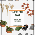 Target Fall Decor in Bullseye's Playground