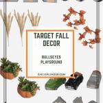 Target Fall Decor in Bullseye's Playground