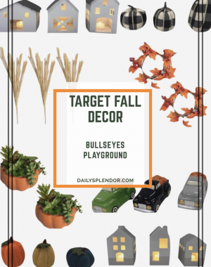 Target Fall Decor in Bullseye's Playground | Daily Splendor Life and Style Blog | #targetfinds #dollarspot #targetforthewin #falldecor