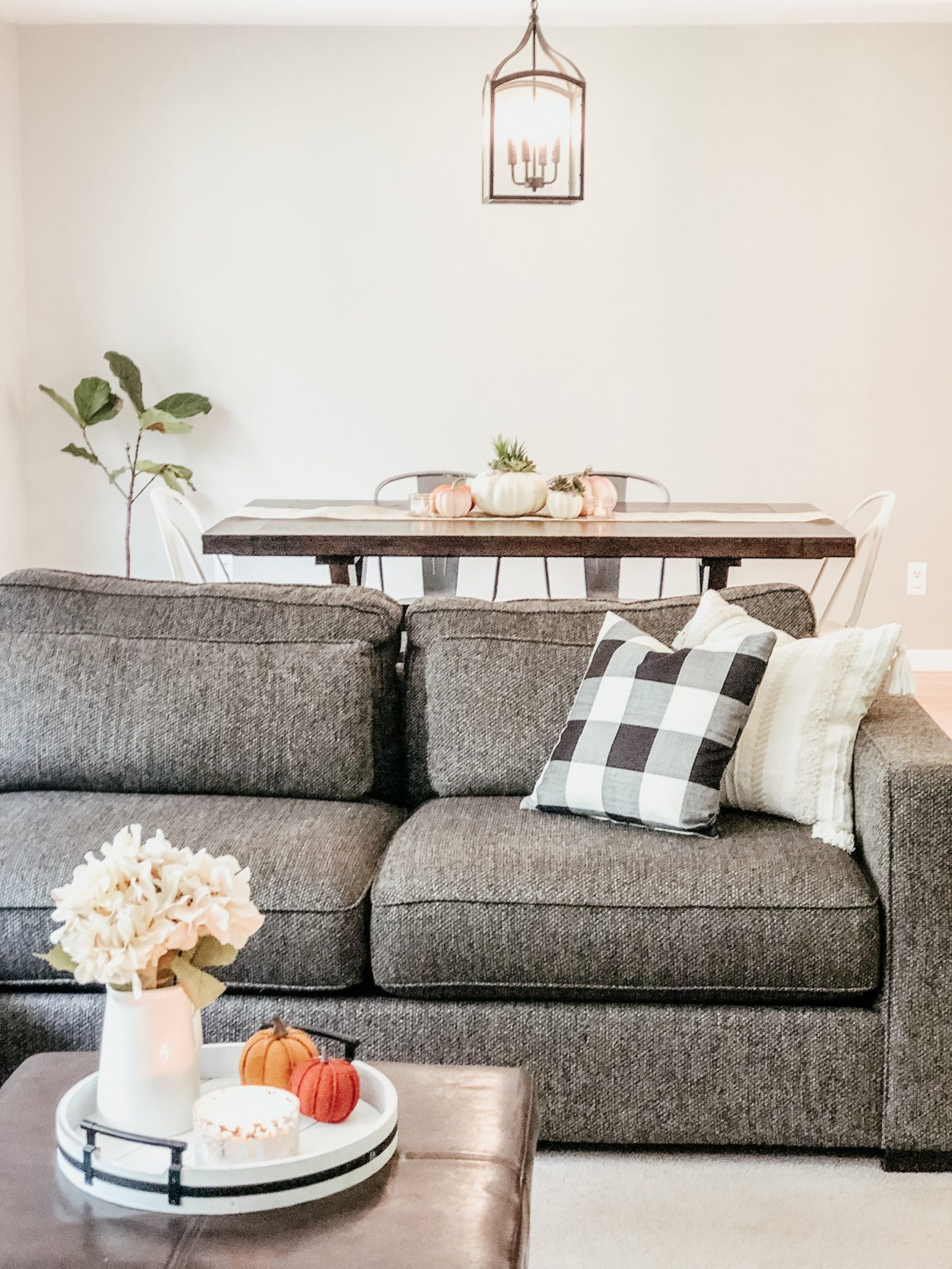 Fall Decor Home Tour | Daily Splendor Life and Style Blog | fall living room decor #throwpillows #pumpkins #fallpillows #cozyfall