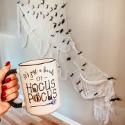 Friday Splendors | Halloween mug | Daily Splendor Life and Style Blog #halloweendecor #bats #hocuspocus #etsy #etsyfinds