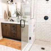 Master Bathroom Reveal | Daily Splendor Life and Style Blog | master bathroom #modernfarmhouse #modernfarmhousebathroom #Fixerupperstyle #contemporarybathroom #marbletile #subwaytile #subwaytileshower #herringbonetilefloor