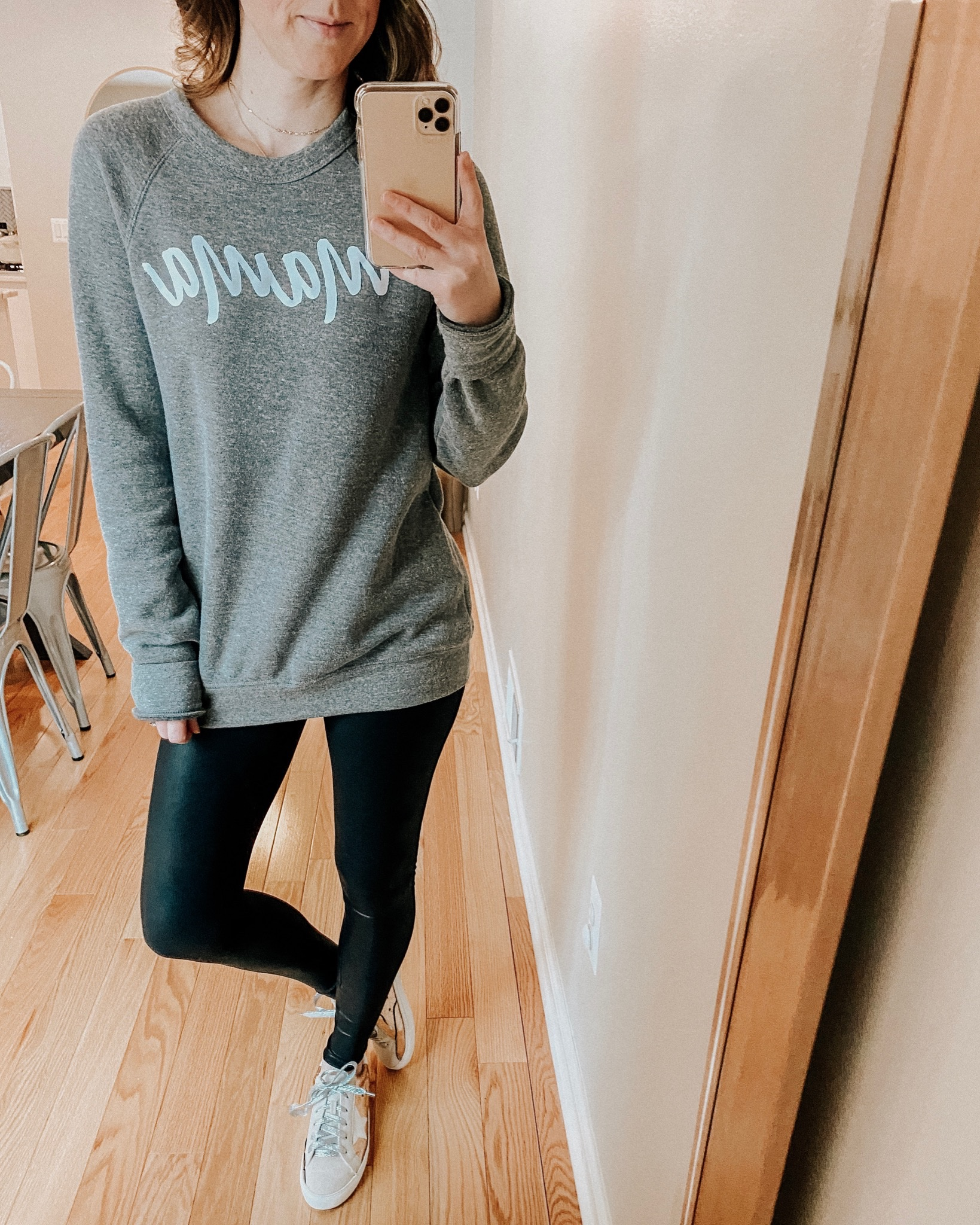 Graphic Sweatshirt Try On | Daily Splendor Life and Style Blog | Mama sweatshirt #momlife #momstyle #casualstyle