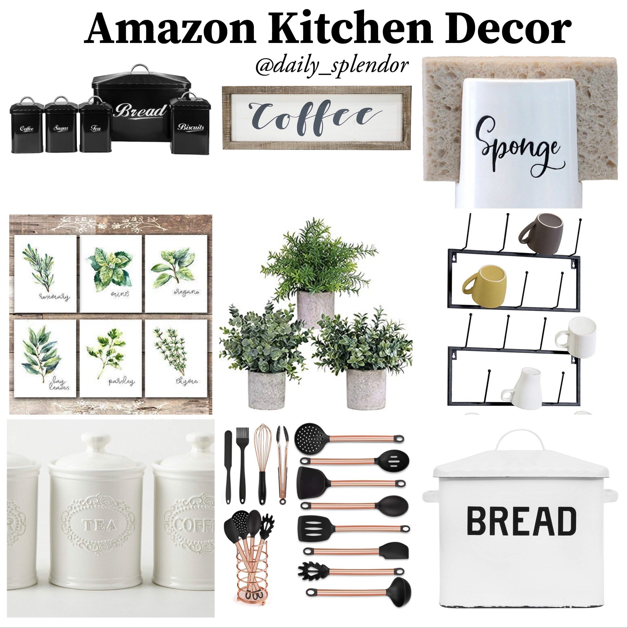 Amazon Kitchen Decor | Daily Splendor Life and Style Blog #kitchendecor #amazonhome #farmhousekitchen #modernfarmhouse #kitchenfinds #amazondecor