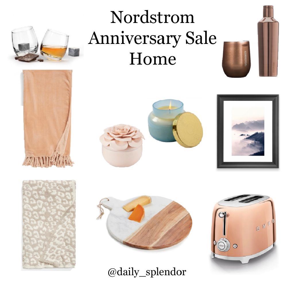 Nordstrom Anniversary Sale - Top Picks | Daily Splendor Life and Style Blog | #nsale #nordstromsale #anniversarysale #saleshopping #homesale #throwblankets #smeg #anthrocandle #barefootdreams
