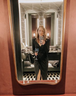 Birthday Celebration night out | Daily Splendor Life and Style Blog | dressed up for the night #blackdress #cocktaildress #nightout #goodamerican #wearthedress