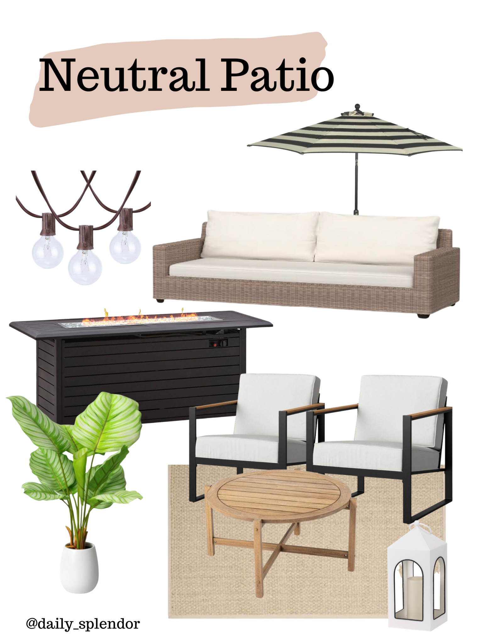 Patio refresh ideas | Daily Splendor Life and Style Blog | Neutral patio vibe #outdoorfurniture #outdoorliving #summertime #patiodecor #patiofurniture #walmart #targetstyle #contemporarydesign #transitionaldesign #neutraldesign #classicstyle