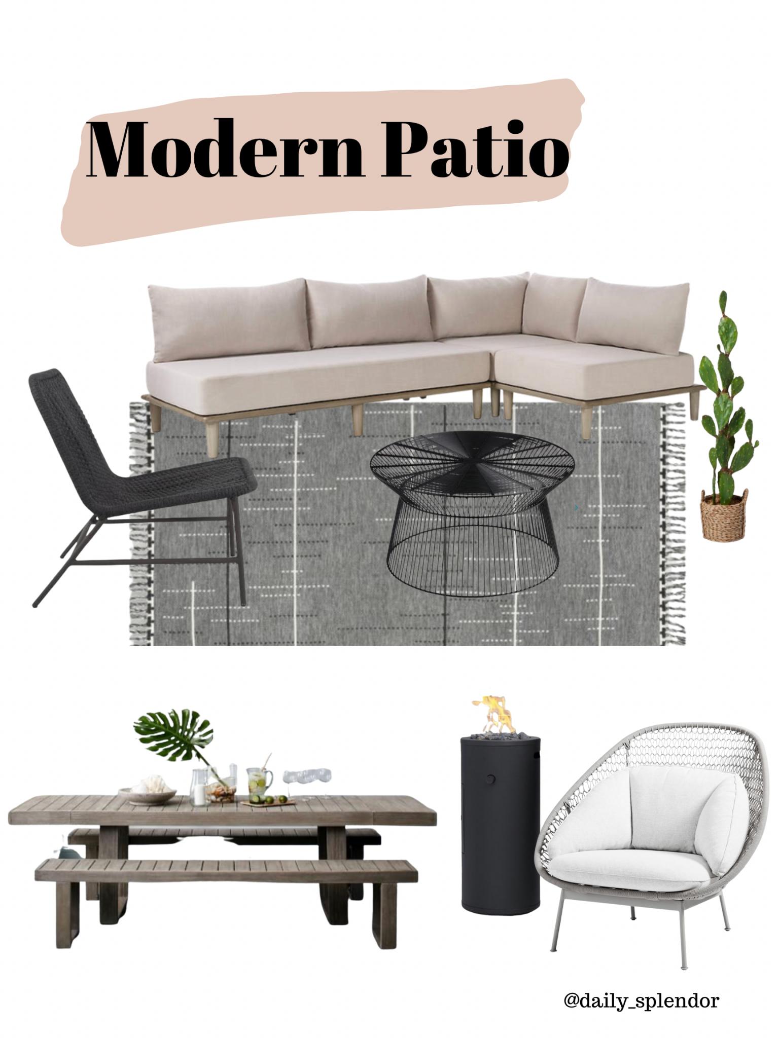 Patio refresh ideas | Daily Splendor Life and Style Blog | Modern patio vibe #outdoorfurniture #outdoorliving #summertime #patiodecor #patiofurniture #westelm #crateandbarrel #moderndesign #transitionaldesign #neutraldesign