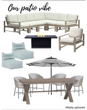 Patio refresh ideas | Daily Splendor Life and Style Blog | Our patio vibe #outdoorfurniture #outdoorliving #summertime #patiodecor #patiofurniture #potterybarn #westelm #cb2 #contemporarydesign #transitionaldesign #neutraldesign