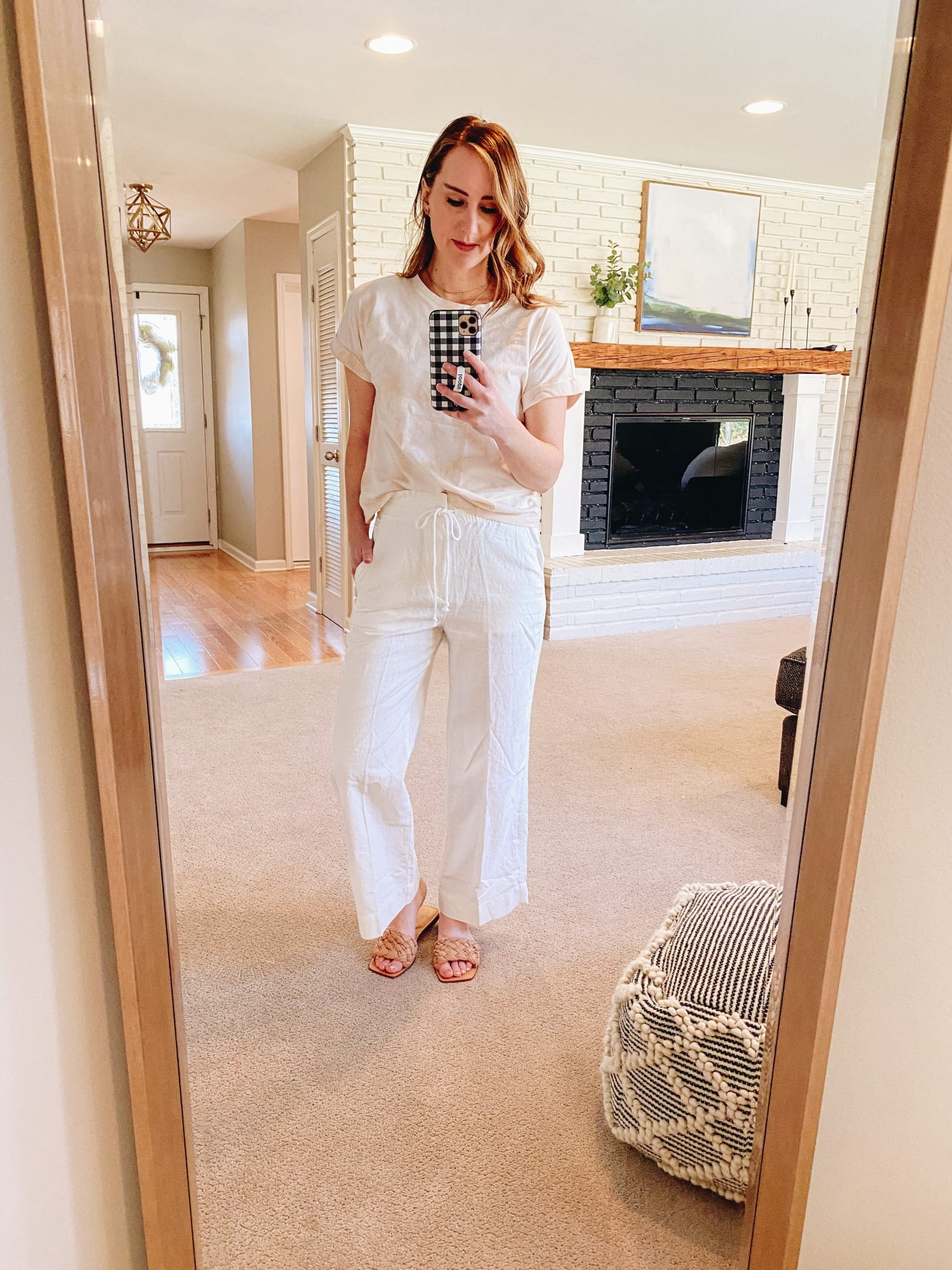 April favorites | Daily Splendor Life and Style Blog | Braided slides #springoutfit #linenpants #marcfisher